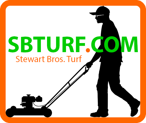 Stewart Bros Turf Logo, grass cutting, lawn mowing, lawn cutting